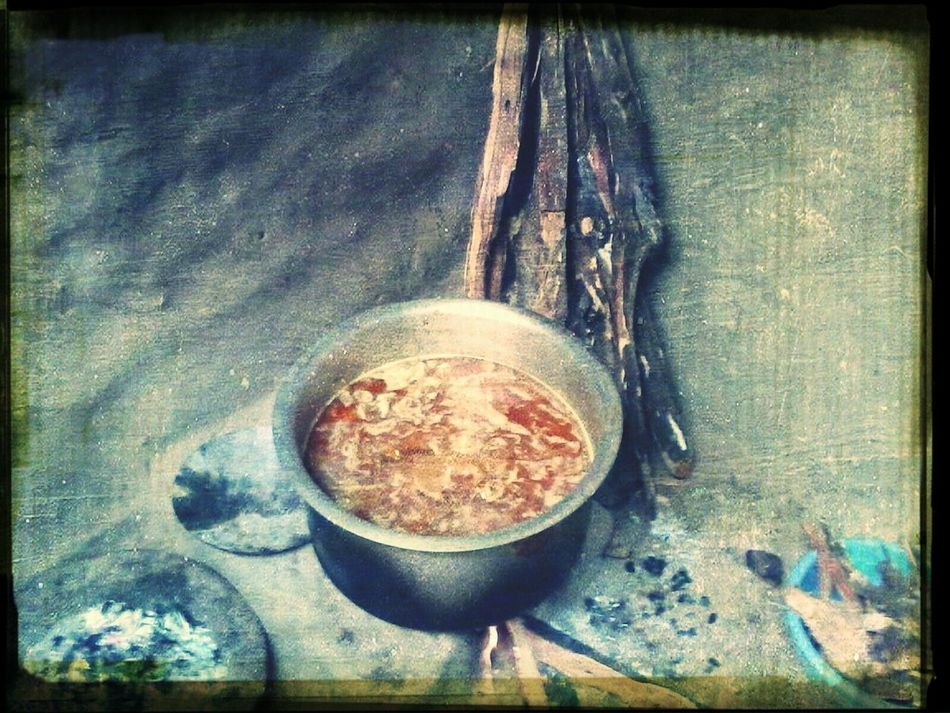 Traditional Stove Woodburning Stove Indian Mud Stove Cooking A Meal Chicken Curry Traditionalfood Foodphotography