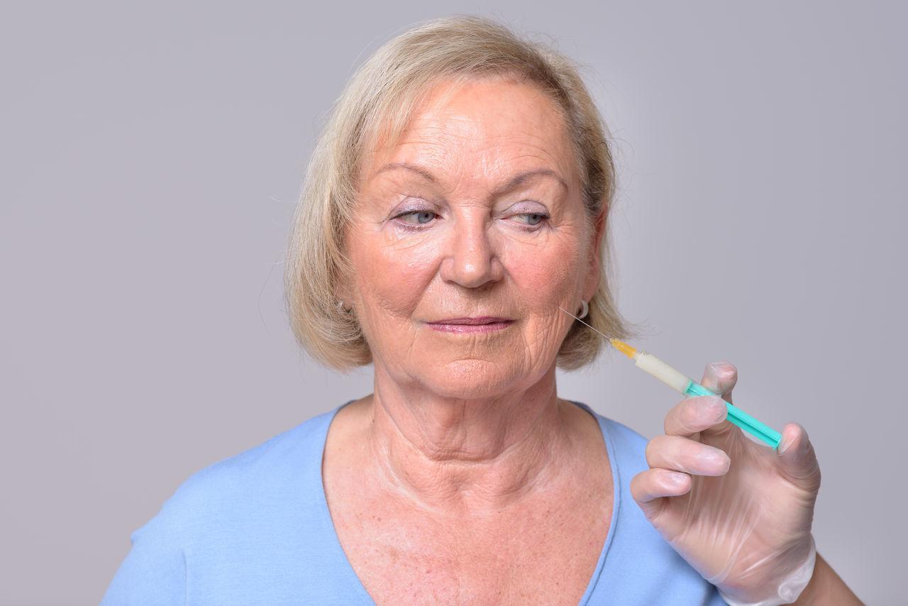 Beautiful stock photos of medizin,  75-79 Years,  Beauty Treatment,  Body Care And Beauty,  Botox Injection