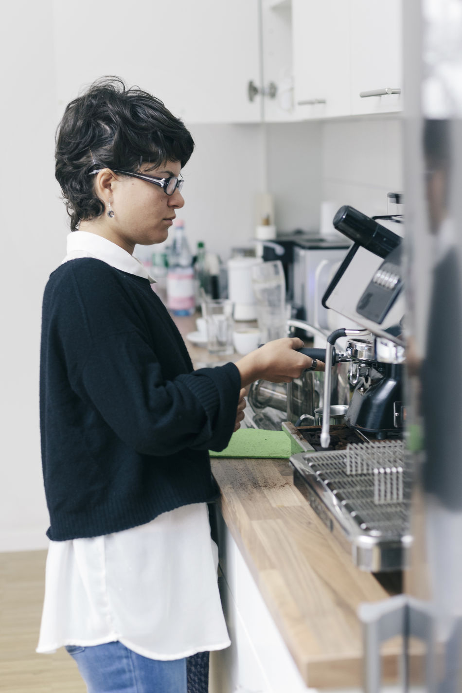 Beautiful stock photos of kitchen, Berlin, Casual Clothing, Caucasian Ethnicity, Coffee - Drink