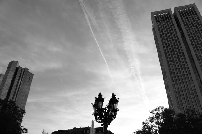 Architecture Blackandwhite Building Building Exterior Built Structure City City Life Cloud - Sky Low Angle View Modern Monochrome No People Office Building Sky Tall - High