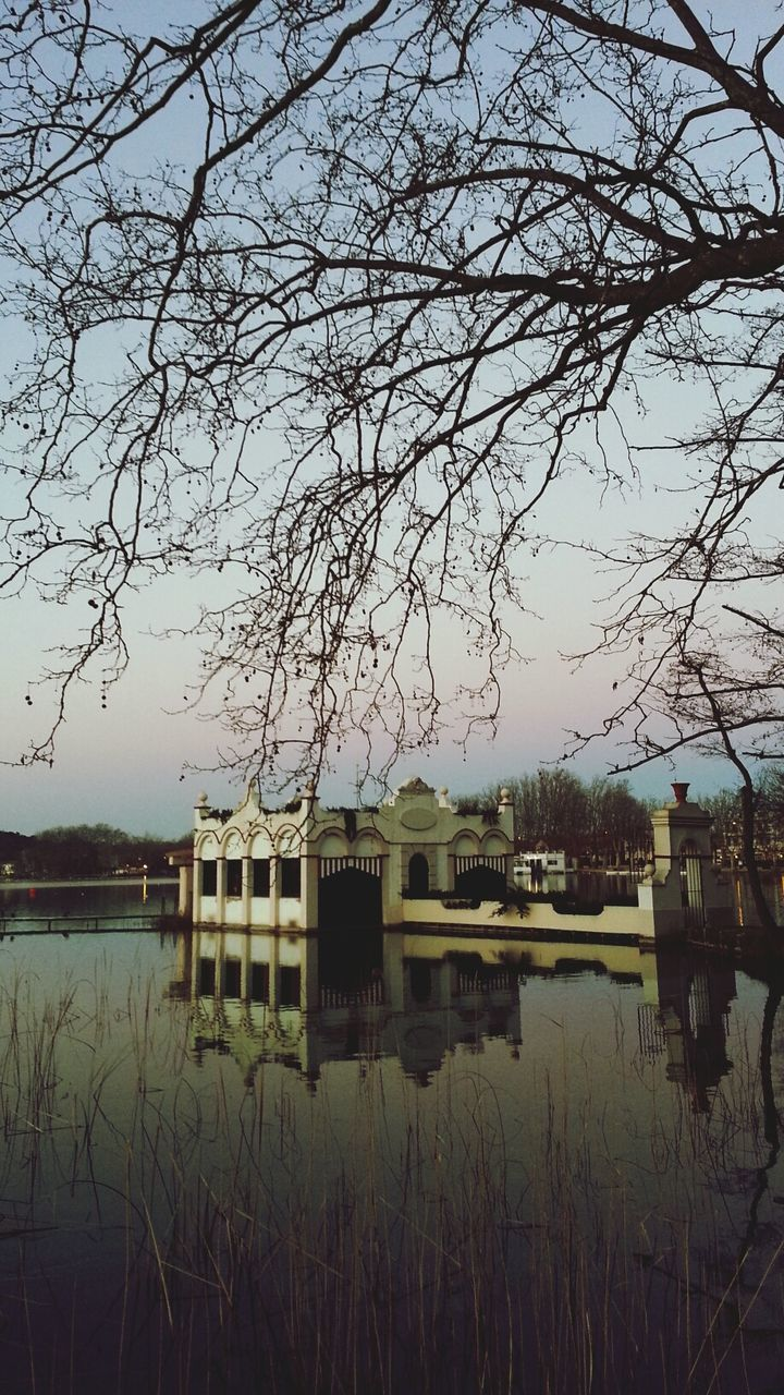 Building in Banyoles lake