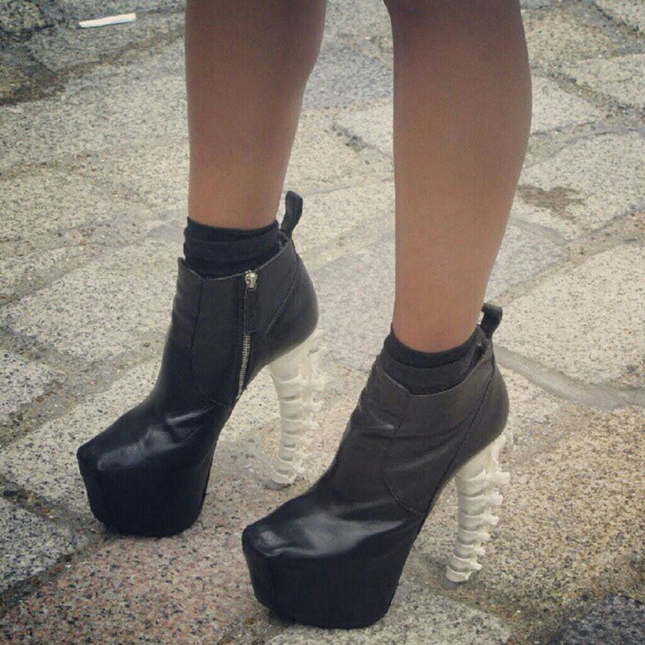 I love it!!! :D DSQUARED2 Skeleton Heel Girl cool black style fashion awesome