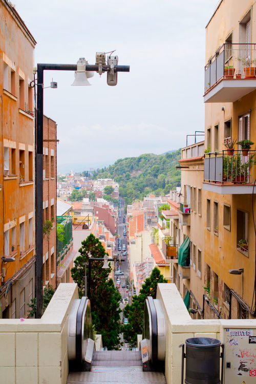 Apartment Architecture Balcony Barcelona Building Building Exterior Built Structure City City Life Community Escalator Façade House Human Settlement Outdoors Panorama Residential Building Residential District Residential Structure Sityscape Sityscapes SPAIN Street Light Topview Urban