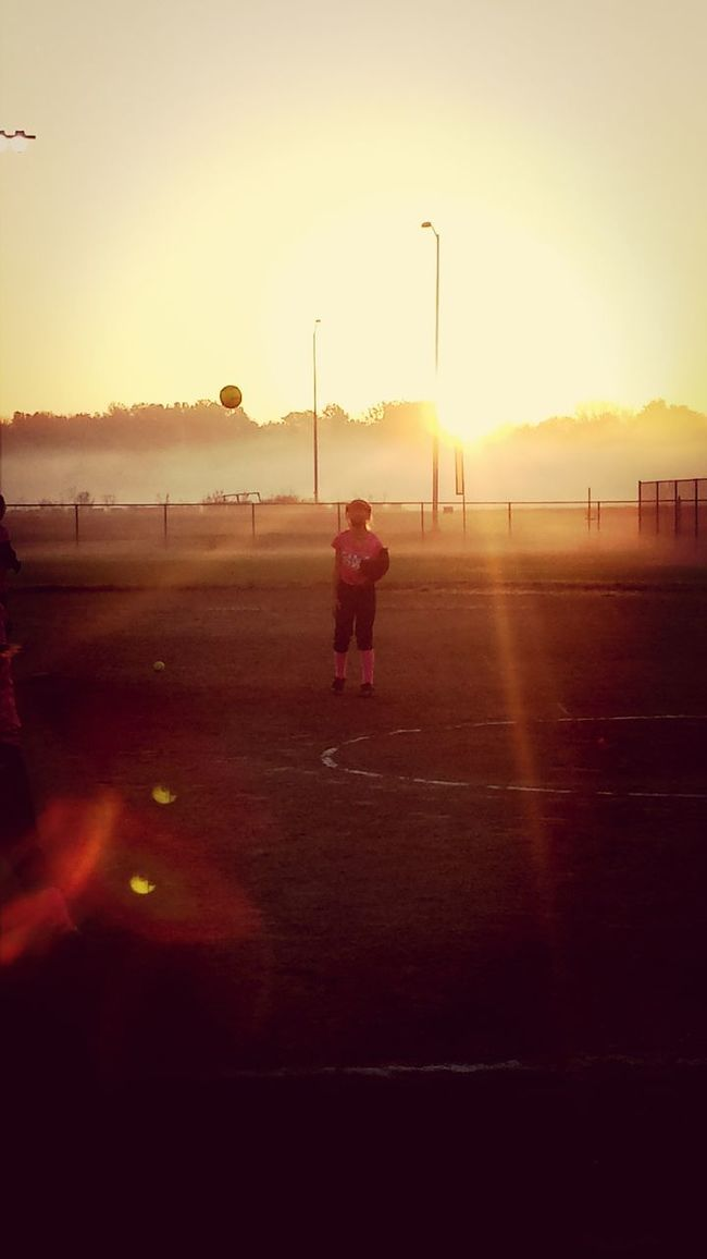 Up in the morning with the rising sun - we're gonna play softball 'till the day is done!