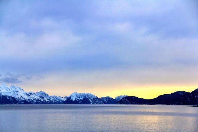 Sunset at Resurrection Bay-Seward, Alaska