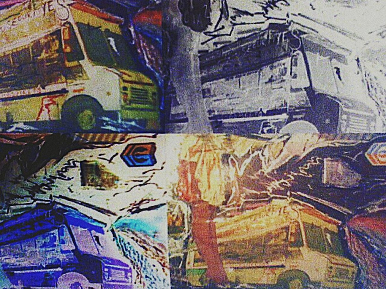 My Artwork My Art Digitizing Quadra Collage DaBombMeatPies Negative Art Negative Effect Work, Waitress, Food Service, You've Been Served