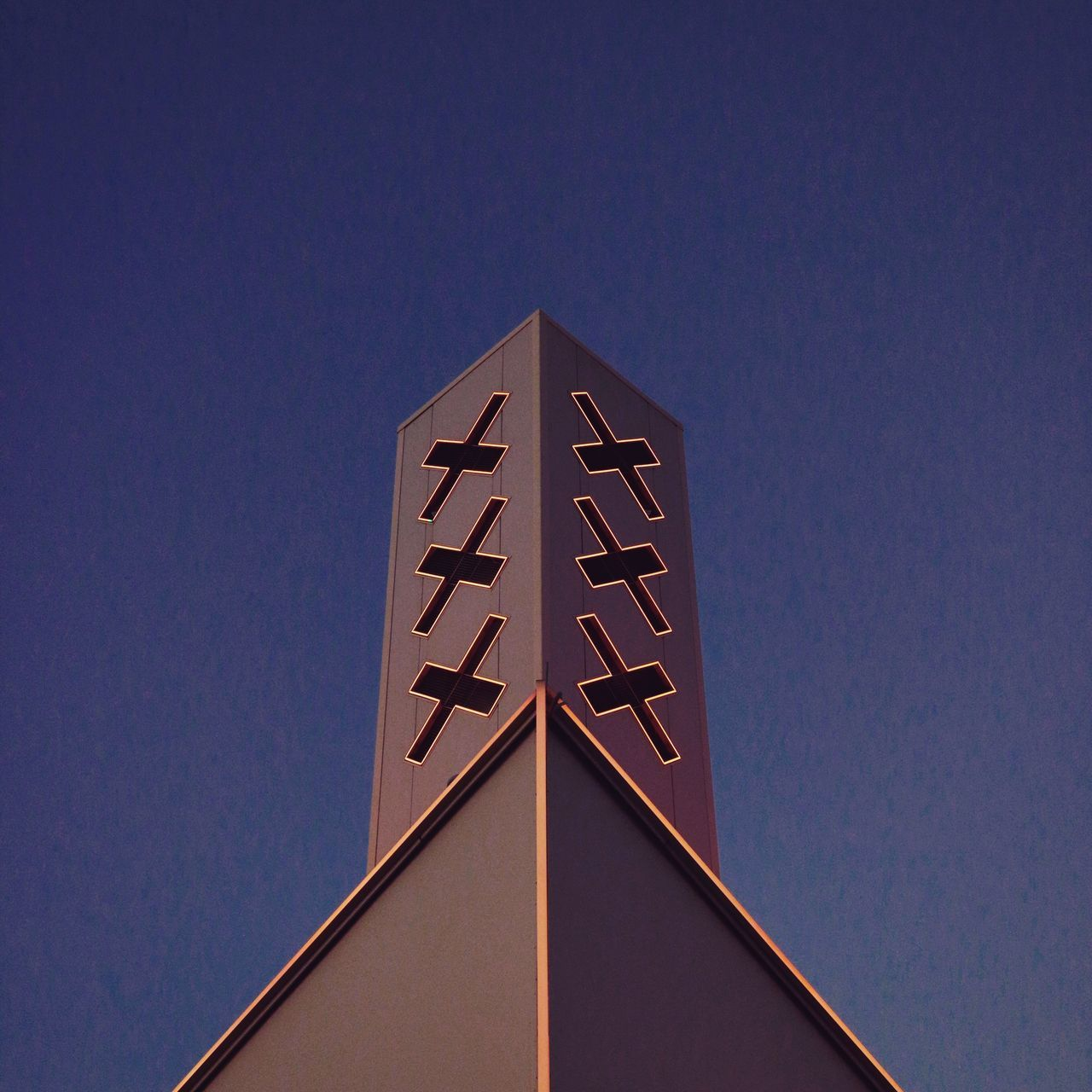 The Architect - 2017 EyeEm Awards top of the A'DAM Lookout. Low Angle View Clear Sky Built Structure Achitecture Architectural Detail No People Outdoors Three Crosses Amsterdam Minimalist Architecture