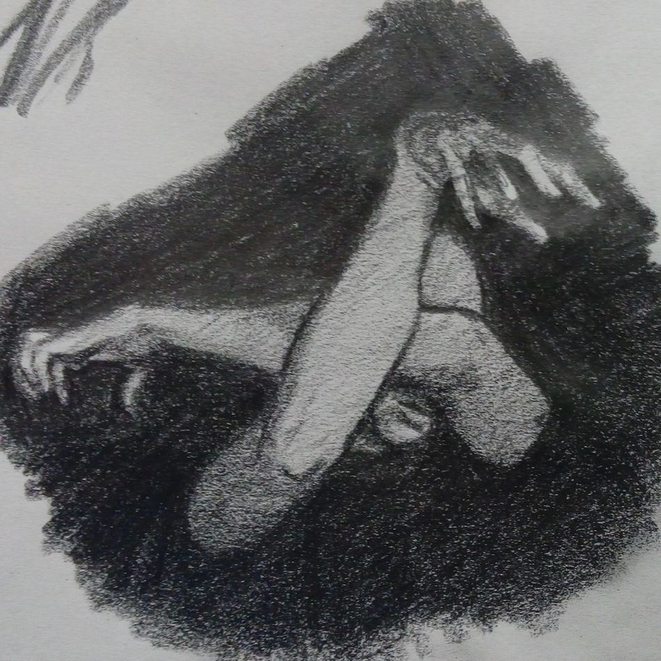 Para el libro de bocetos. Human Body Part Human Hand Black & White First Eyeem Photo Sketchart Dibujo Charcoal Drawing Drawing, Painting, Artwork Charcoal Gallery Artistic Expression Contemporary Sketchbook Draw Graphite Grafito Firts Eyeem Photo Sketchbook