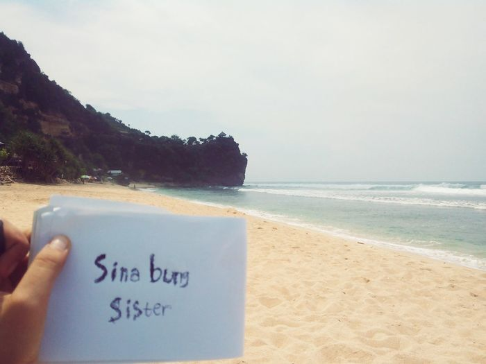 Little message for our friends in Bogor, thank u... :-D Friends Beach Pantaipoktunggal Gunungkidul Yogyakarta INDONESIA