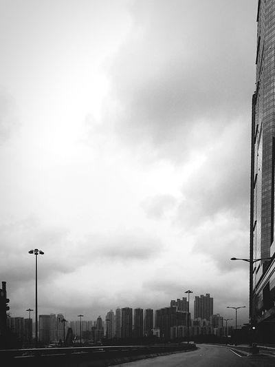 Monochrome Black And White Cityscapes Building And Sky Architecture Hong Kong Architecture Hong Kong IPhoneography Eye4photography  Street Photographer-2016 Eyem Awards Light And Shadow Sunlight, Shades And Shadows