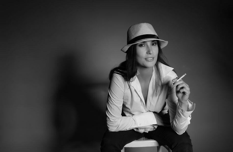woman with cigarette Addiction Beautiful Beauty Blackandwhite Cigarette  Enjoyment Enticing Erotic_model Flirt Girl Hat Hot Lascivious Livestyle Longing Provocative Pose Saucy Sensual_woman Sexygirl Smoker Smoking Stylish Woman Young Young Women