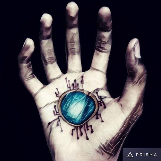 Prisma Iron Man Iron Man 3 Repulsor Hand Self Clicked Tattoo Tattoos Sketching Sketchpens Close-up