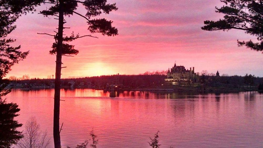 Alexandria Bay, NY... sunset. Sunset Alexandria Bay 1000 Islands Beautiful Castle View  Castle 1000 Islands New York Bay Water Reflections