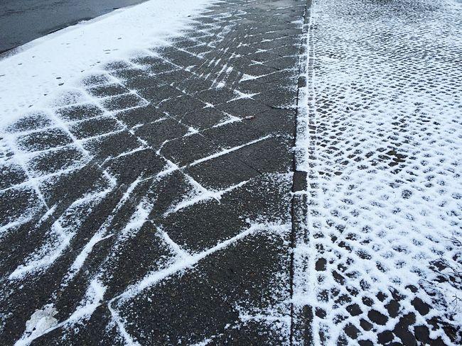 Pavement Snowminimals Snow Bike Tracks Pattern Pieces Winter