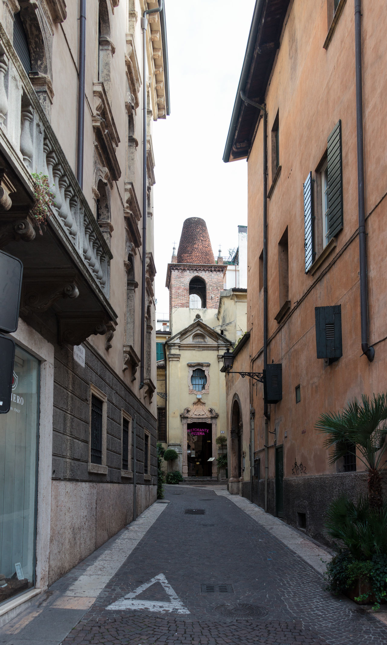 Verona, Italy - September 27, 2015 : Quiet streets of the old city of Verona. Vicolo S. Matteo street corner in Verona, Italy Architecture Architecture Art Building City Culture Day Europe Famous History House Italy Landmark Old Outdoors People Square Street Tourism Town Travel Urban Verona View Walking