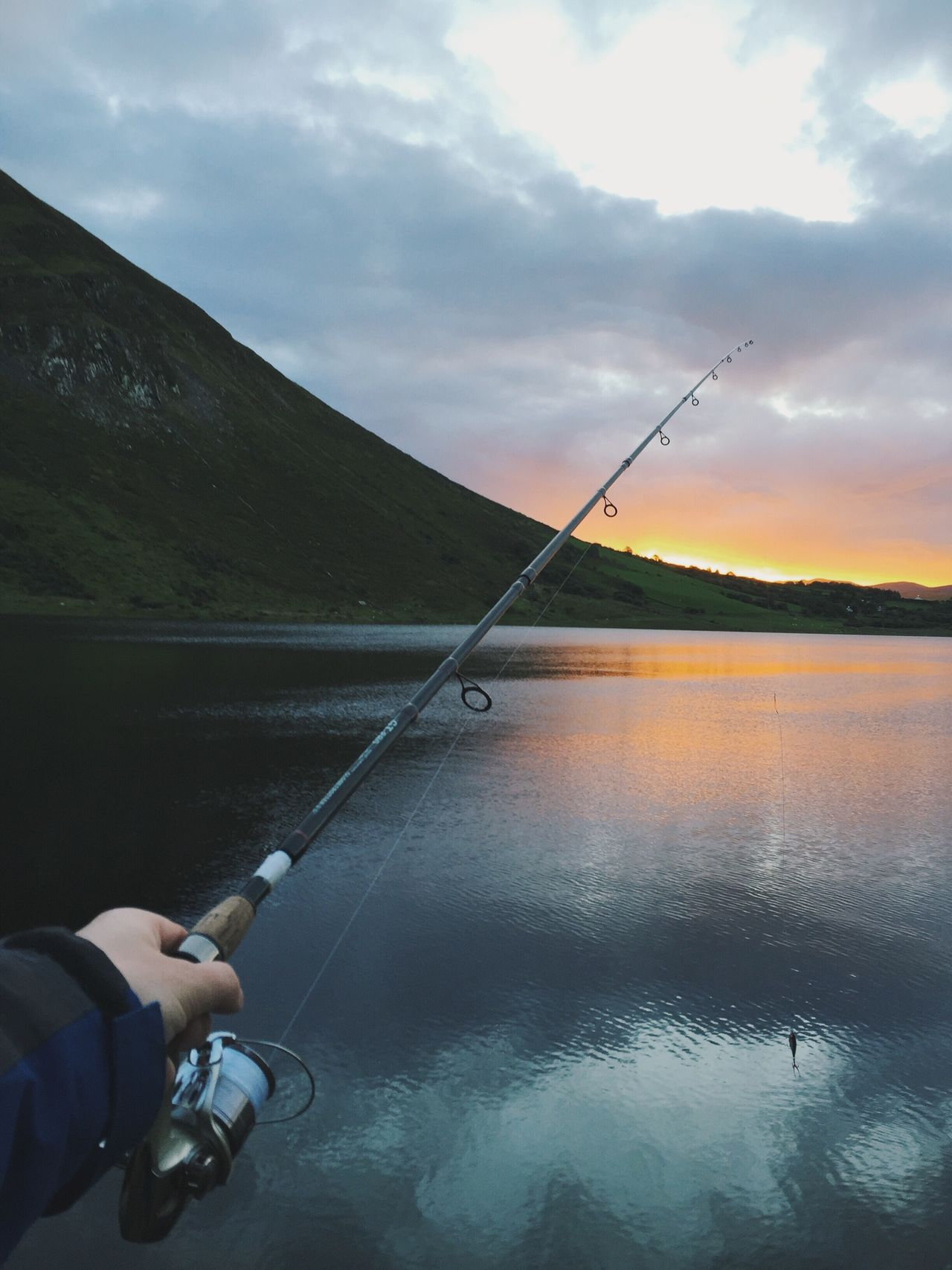 Fishing Ireland Fishing Sky Water Leisure Activity Holding Cloud - Sky Lake Day Outdoors Real People One Person Scenics Fishing Pole Close-up Tranquil Scene Nature Human Hand Catch Of Fish Ireland Fishing Rod