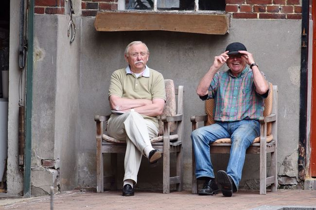 Two Is Better Than One Full Length Casual Clothing Togetherness Bonding Lifestyles Leisure Activity Friendship Person Shoe Front View Streetphotography People Photography Looking At Camera Day Confidence  Two Grandpa's