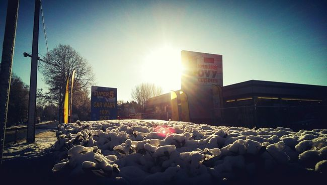 Light Sun Snow From My Point Of View Urban Landscape Sky Bush Nature