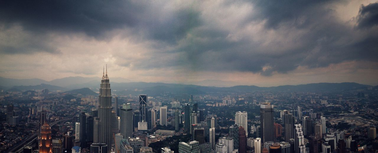 Kuala Lumpur Malaysia  Stormy Weather Storm Coming Cityscape City Skyscraper KLCC Tower Petronas Twin Towers Petronastowers ASIA Kuala Lumpur Malaysia Wide Angle Wide Panoramic Photography Panorama Panoramashot My Year My View The City Light Neighborhood Map