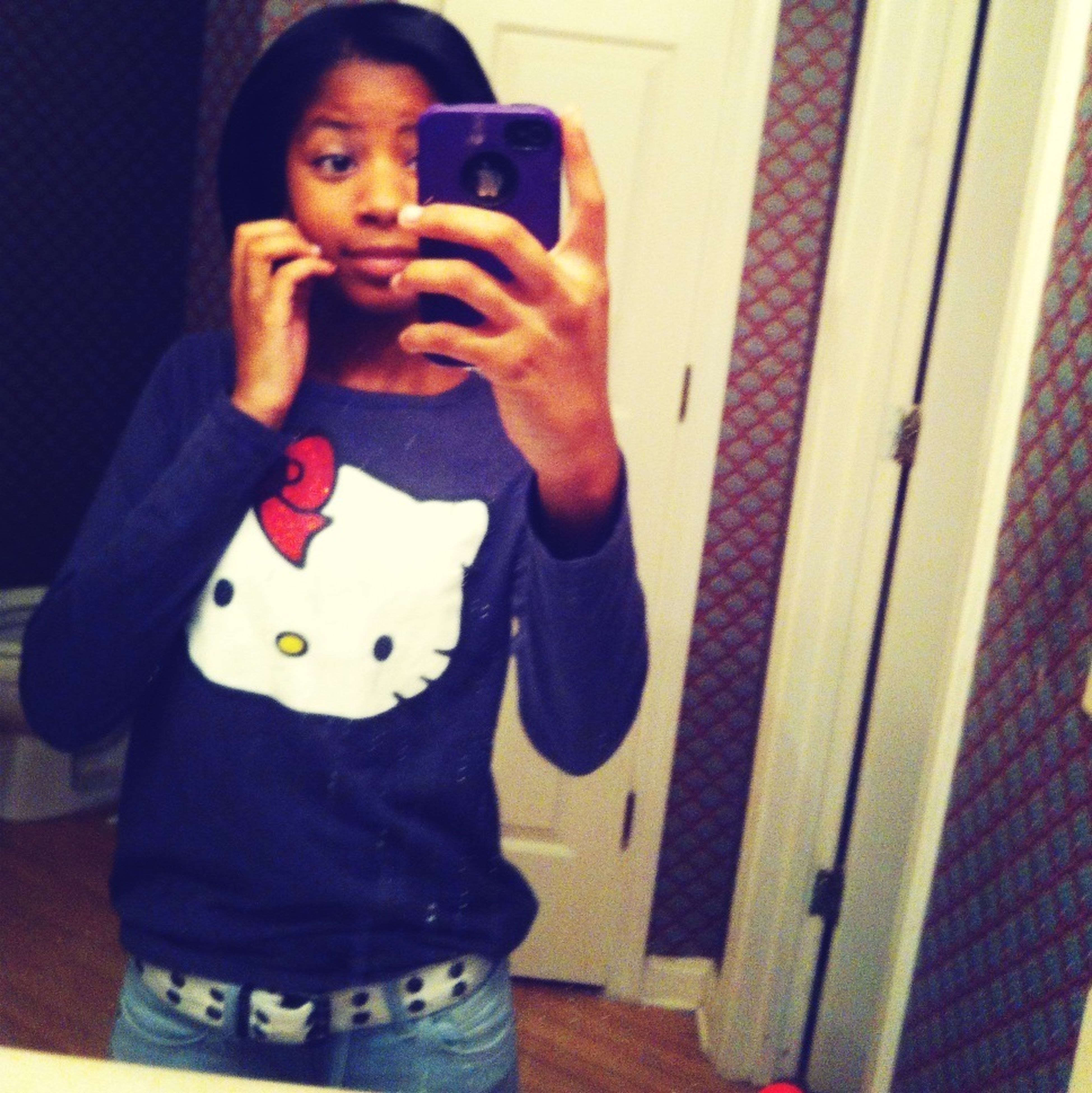 Taking Photos Hello_Kitty Hehe ☺ Kik Me