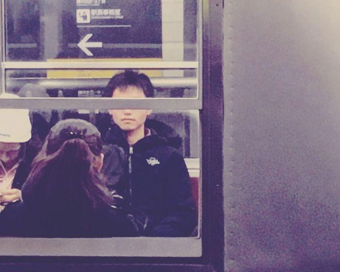 Real People Train Censored Window Japanese  Japan Japanese Train Japanese Train Station Eyes