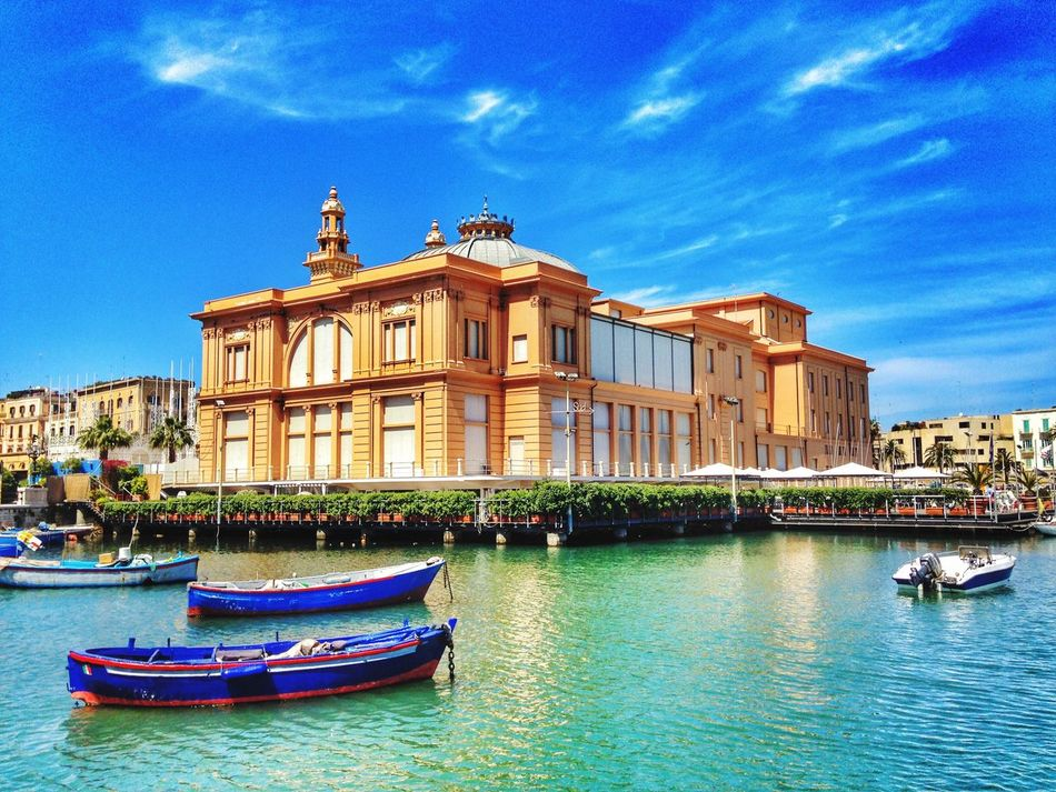 Building Exterior Architecture Mode Of Transport Sky Waterfront Nautical Vessel Blue Travel Destinations City Canal Moored Water No People Outdoors Day
