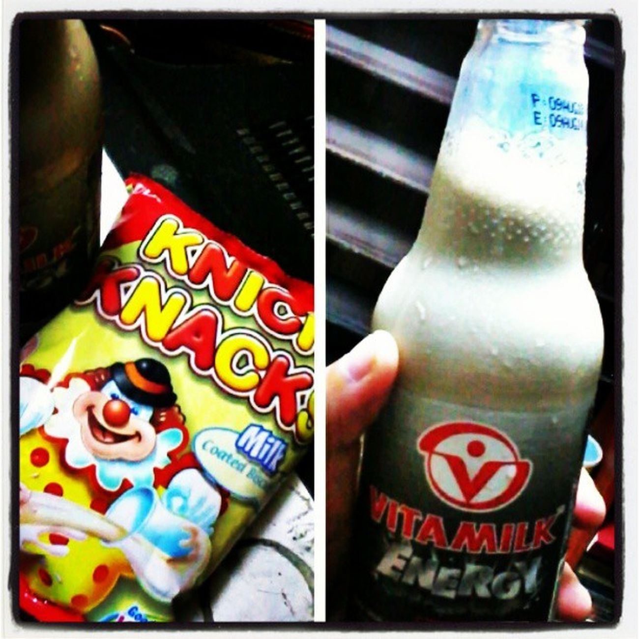 Knick knacks and Vita milk for snacks. Yummy Knicknacks Chocolate Vitamilk soyabeans soyamilk healthy snacktime energy nocaffeine newfave biscuits vitamins iron Love Life Passion igers igersasia Philippines Cebu pinoy instalike instalove potd followforfollow