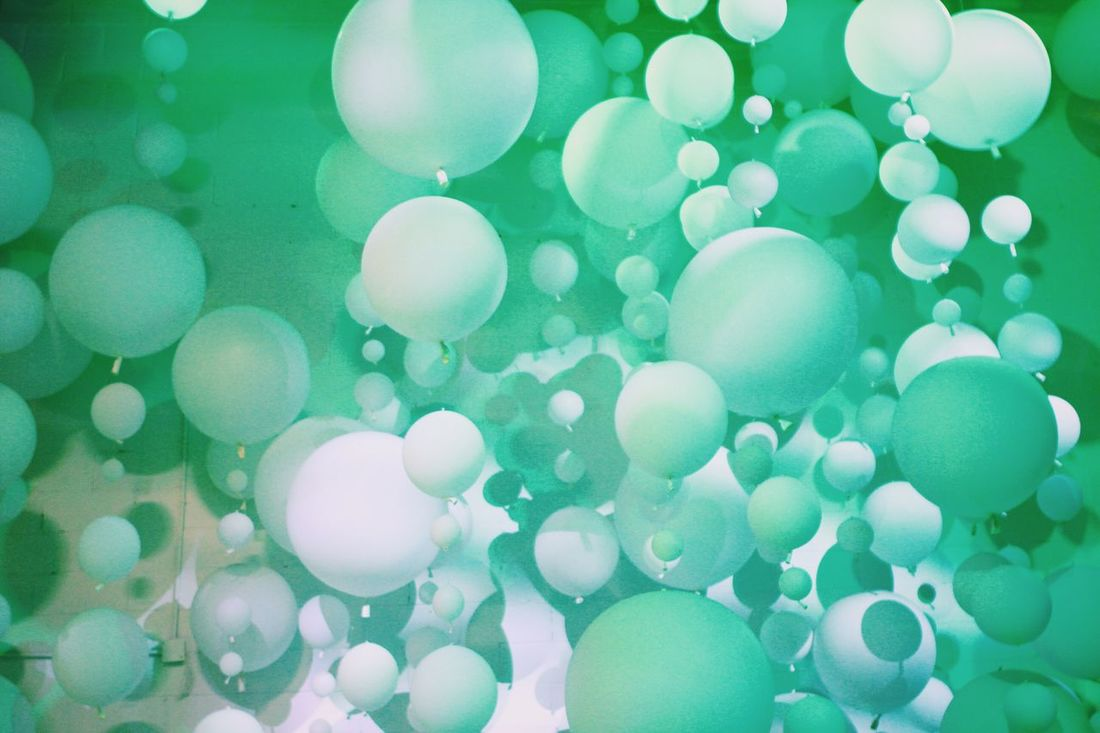 Balloons NYC ArtExplosion Color Bushwick Refinery29 29rooms Light Light And Shadow Green Color
