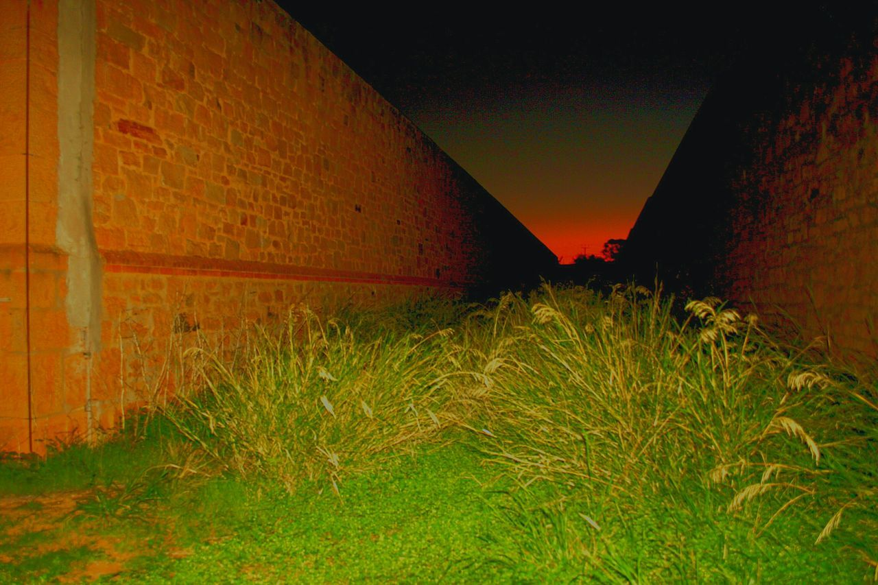 Gladstone Gaol South Australia walls Gaol Walls Sunset