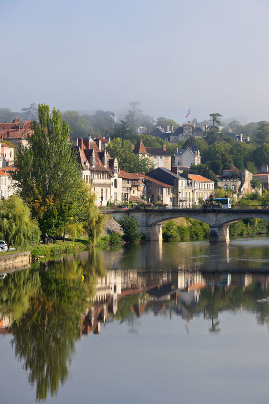 Picturesque view of Perigord town in France Architecture Bridge - Man Made Structure Building Exterior Built Structure City Cityscape Connection Day France Nature No People Outdoors Perigord Picturesque Périgueux Reflection Reflections River Sky Town Tree View Village Water Waterfront