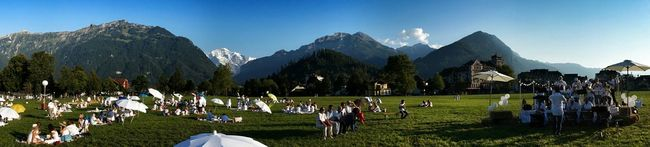 Picnic Interlaken Switzerland Cityscapes Panorama Eye4photography  EyeEm Best ShotsSummer ViewsJungfrau Picnic_blanc great event at a flabbergasting site. so fortunate to live here.
