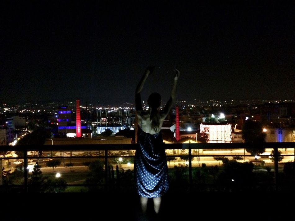 Hands Up Hands Up In The Air Breathe Enjoying Life Enjoying The View Athens City Lights At Night Summer Views City Urbanphotography