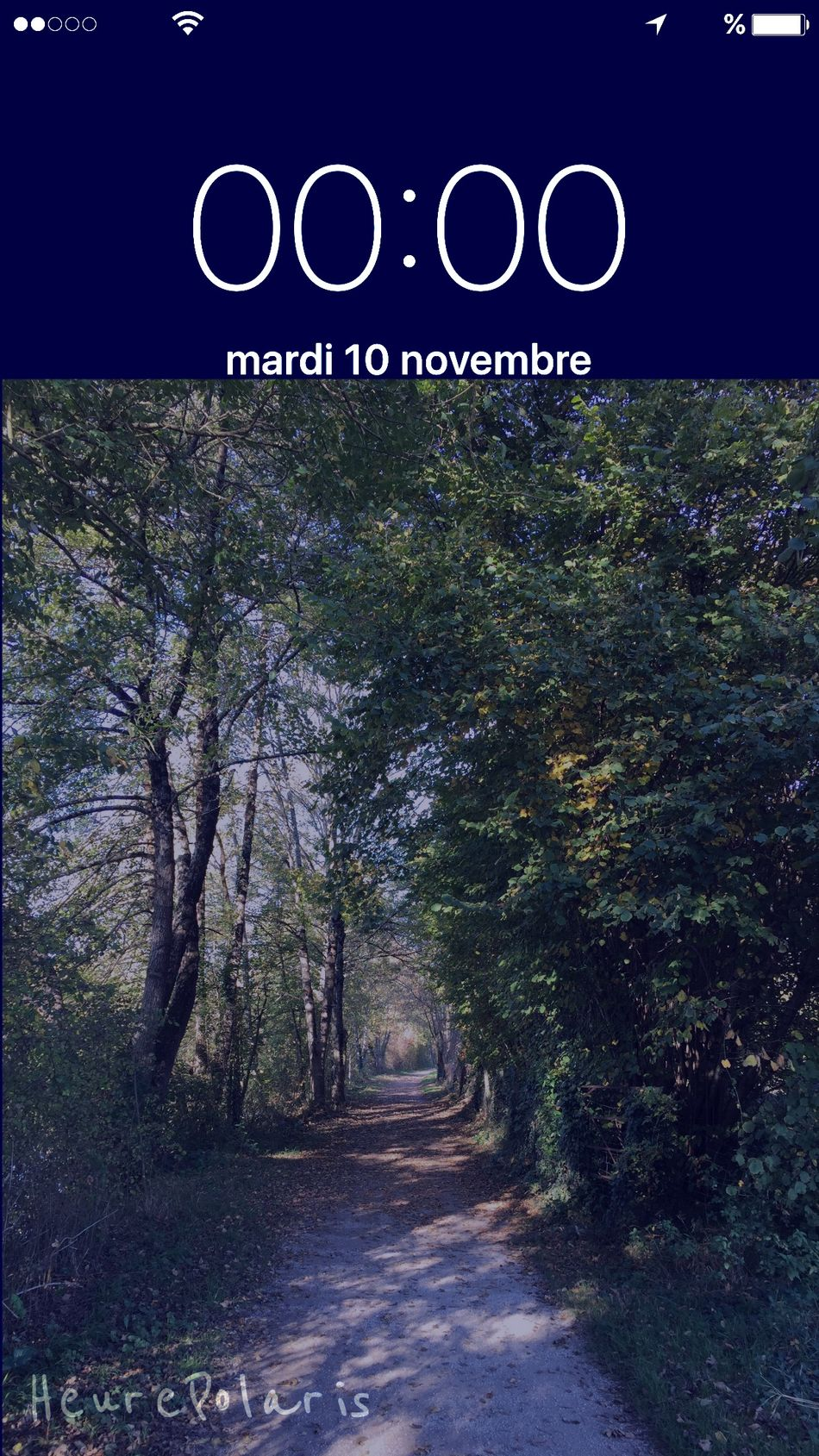 00H00 sur le chemin HEURE POLARIS Bonne Nuit Goodnight Hour Time Heure Sur Les Chemins