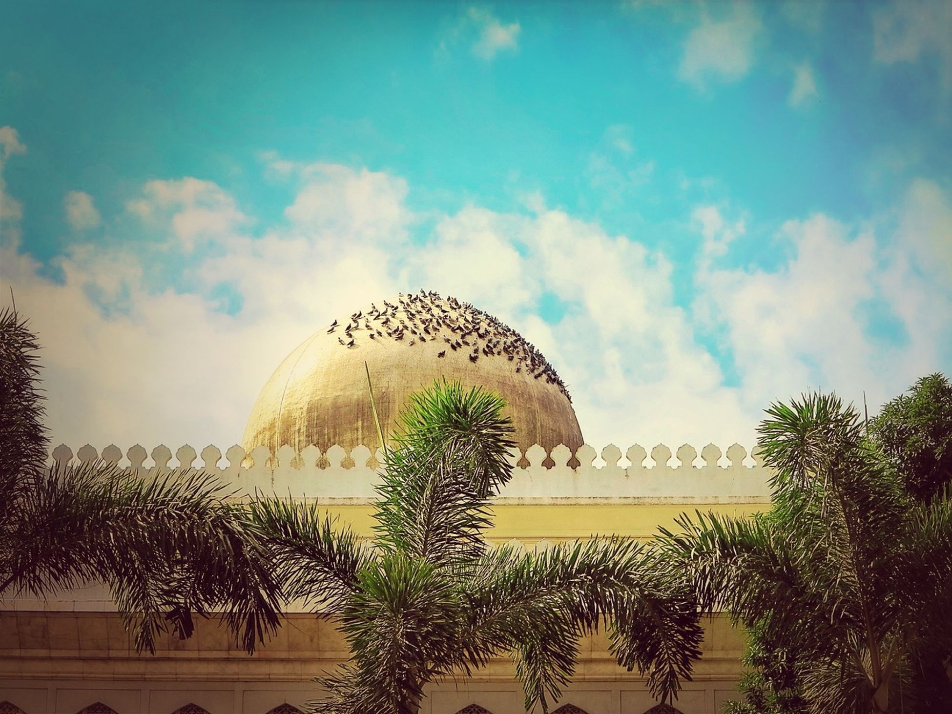 dome, architecture, sky, building exterior, cloud, outdoors, religion, built structure, place of worship, high section, travel destinations, low angle view, famous place, spirituality, tourism, famous place, religion, history, historic, international landmark
