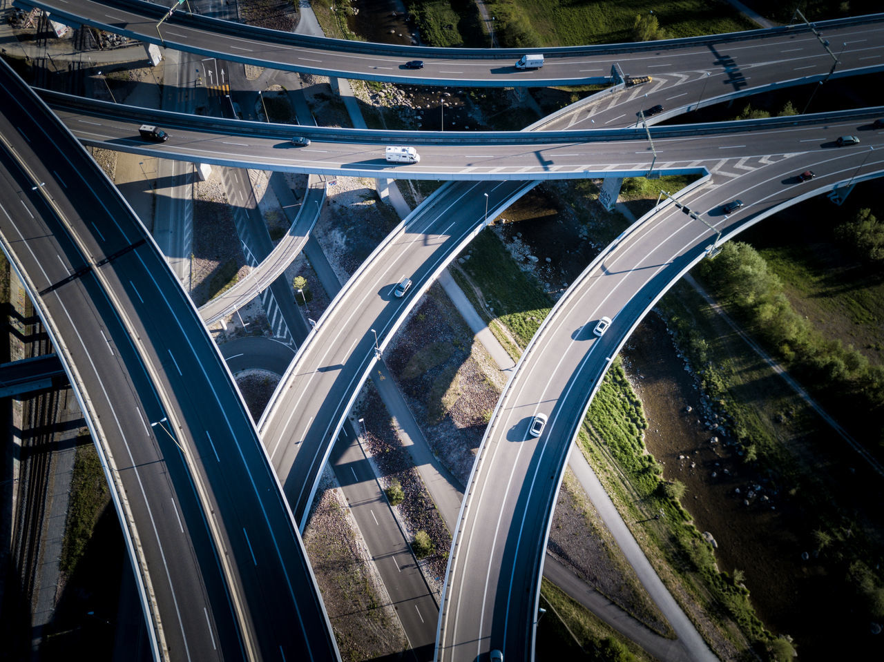 Aerial View Architecture Built Structure Car City City Life Connection Curve Elevated Road EyeEmNewHere Futuristic High Angle View Highway Land Vehicle Mode Of Transport Modern Motion No People Outdoors Overpass Road Road Intersection Speed Traffic Transportation