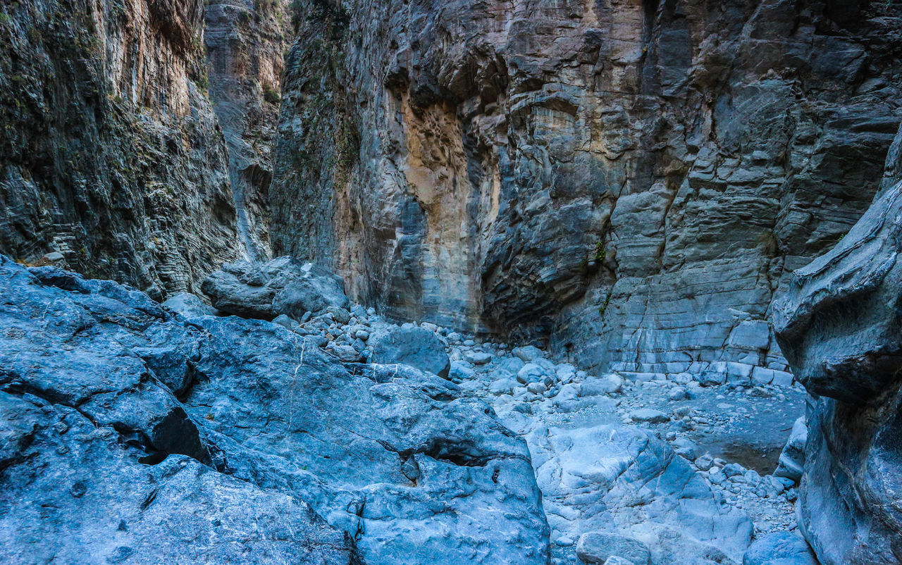 Backgrounds No People Nature Textured  Outdoors Full Frame Beauty In Nature Greece Crete Samaria Gorge Rocks Gorge Canyon Rock Formation Felswand Hintergrund Felsenmeer Steine