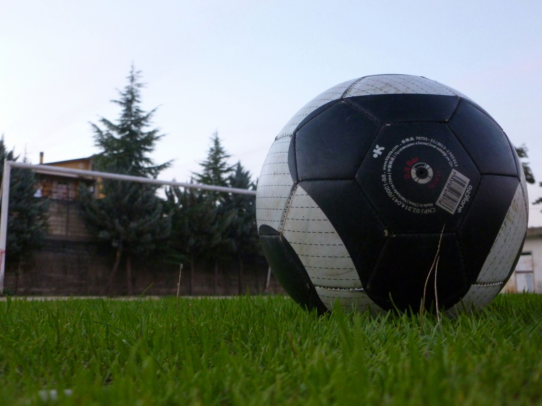 from afar, the door become more small than the ball! Football This Is Football I Love Football