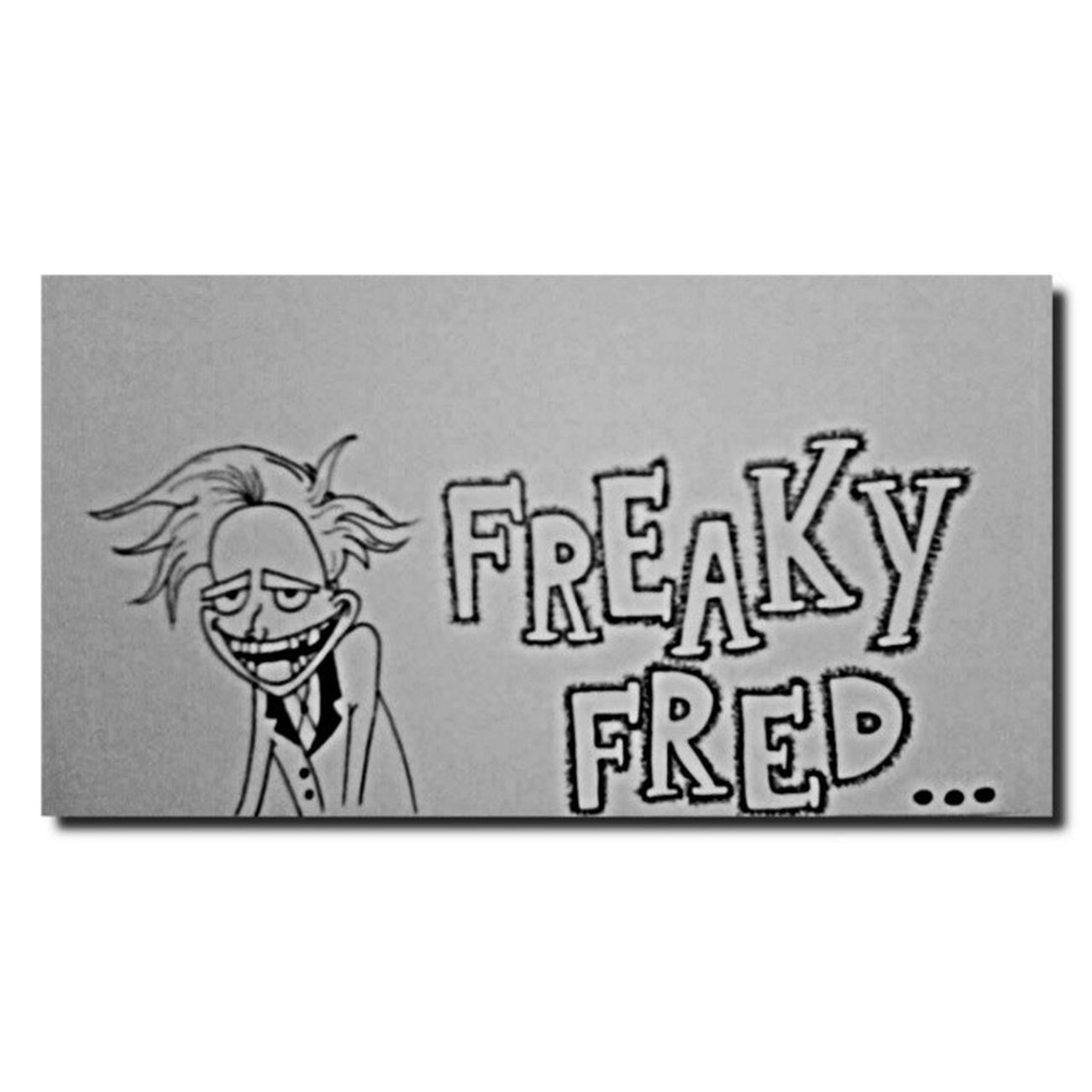 El barbero [loco]. FreakyFred Boceto