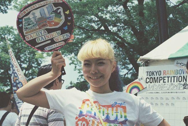 20160507 a girl from 名古屋 NSM= Tokyo Rainbow Pride 東京レインボープライド Yoyogi Park 代々木公園 東京 日本 Tokyo,Japan Lgbt Lgbt Pride Lgbtaiq Canon F-1 Film Photography 35mm Film セクマイ