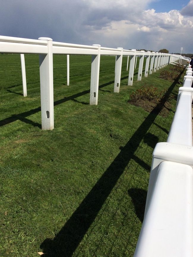 Running rails Running Rails Fence Posts Ascot Racecourse Horse Racing White Green
