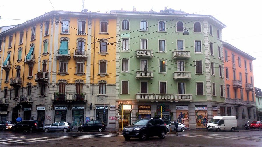 in the Urban Landscape the Colors of the Old Buildings against the grey of Autumn Cityscapes