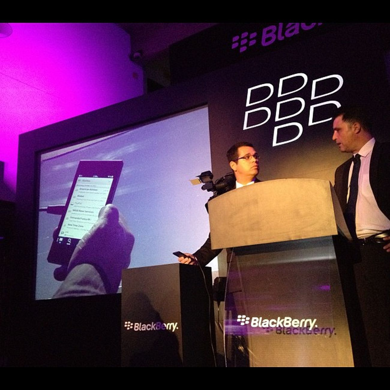 En la presentación de Blackberry10