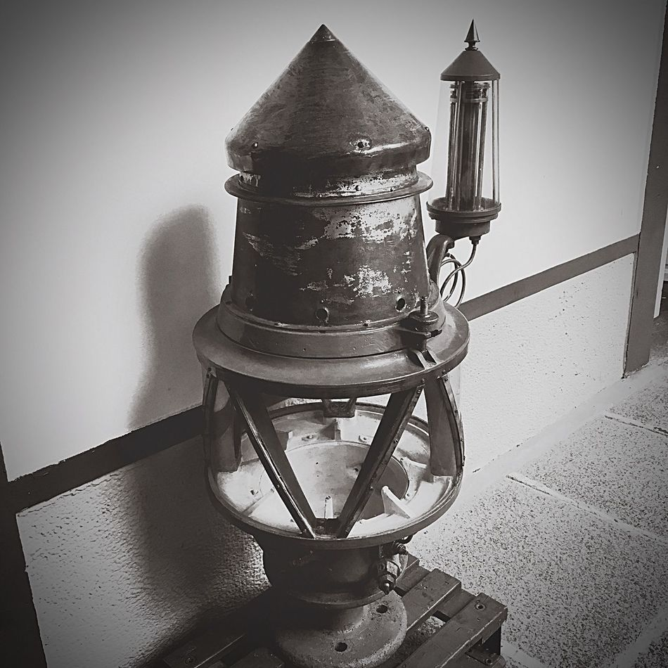 Monochrome Photography Old-fashioned In Front Of No People Man Made Object Lighthouse Lamp Headlight