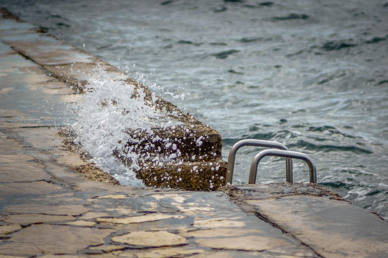 Ladder Swiming Close-up Day Nature No People Ocean Outdoors Splashing Water