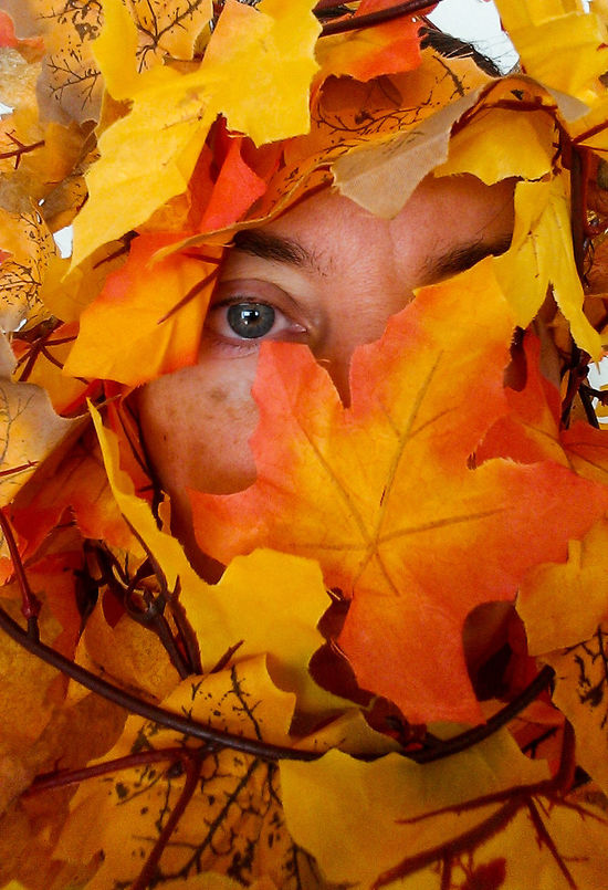 My Entish Self Portrait One Person Human Eye Self Portrait Selfie Close-up Day TreeBeard MiddleEarth LOTR Fall Foliage Indian Summer Leaves Autumn Autumn Colors Tree Looking At Camera Women Forest Eye Hiding Women Around The World