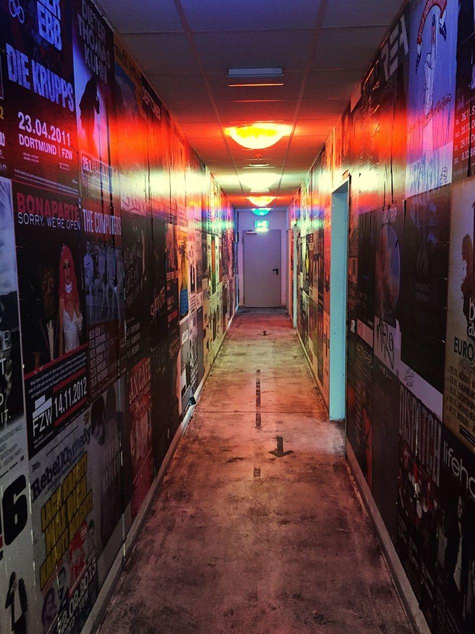 Concert Backstage Indoors  Perspective Red Light Poster