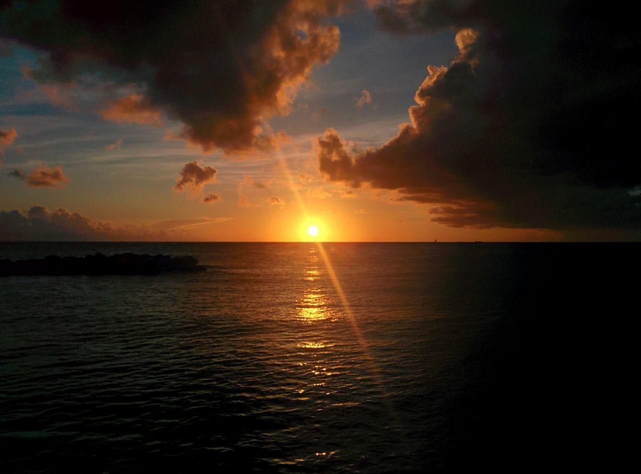 Sunset Sunshine Relaxing Swimming