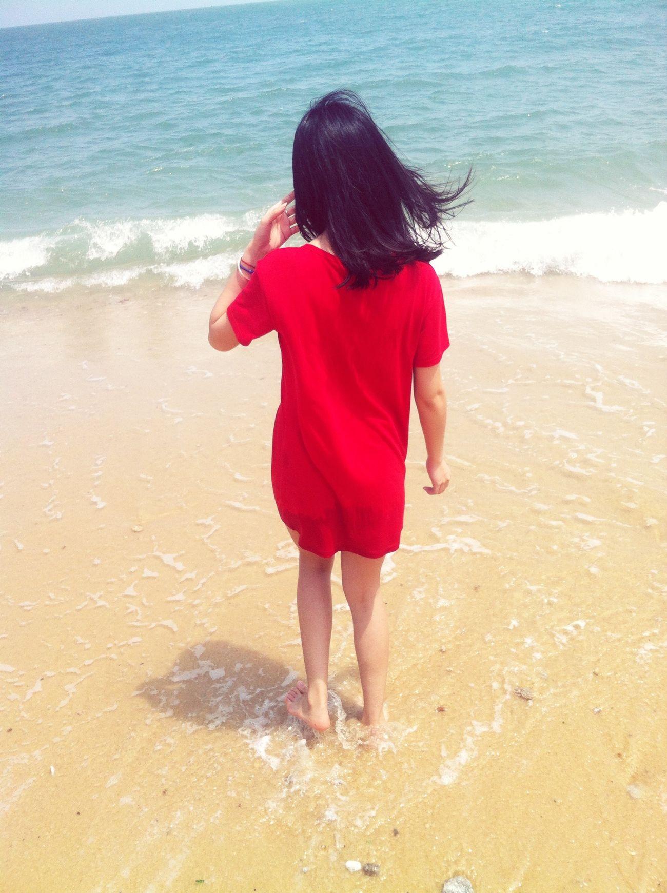 今年第一次去海边