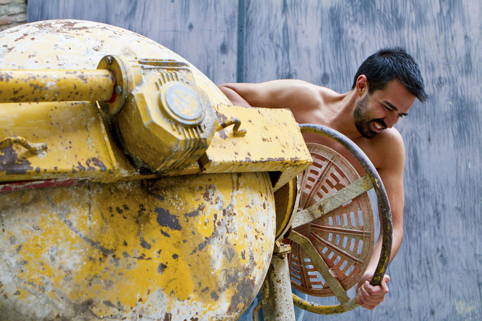 Beautiful stock photos of industrial, Black Hair, Caucasian Ethnicity, Cement Mixer, Construction Industry