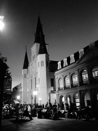 What's On The Roll New Orleans St. Louis Cathedral French Quarter City Life Night Shot